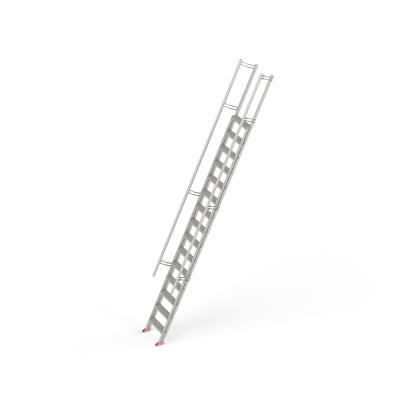 STAFE Steiltreppe L15 aus Aluminium, 15 Stufen L = 5360 mm