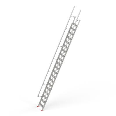 STAFE Steiltreppe L20 aus Aluminium, 20 Stufen L =  6800 mm
