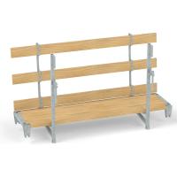 Hohlwand-Betonierbühne, mit Holzbelag
