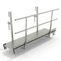 Hohlwand-Betonierbühne mit Stahlbelag