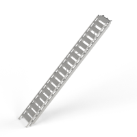 STAFE Bautreppe aus Aluminium, 20 Stufen L = 5950 mm