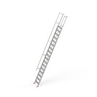 STAFE Steiltreppe L17 aus Aluminium, 17 Stufen L =  5900 mm